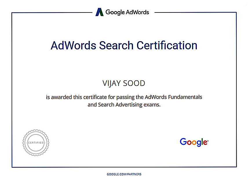 Google Adwords Vijay Sood SwiftPropel