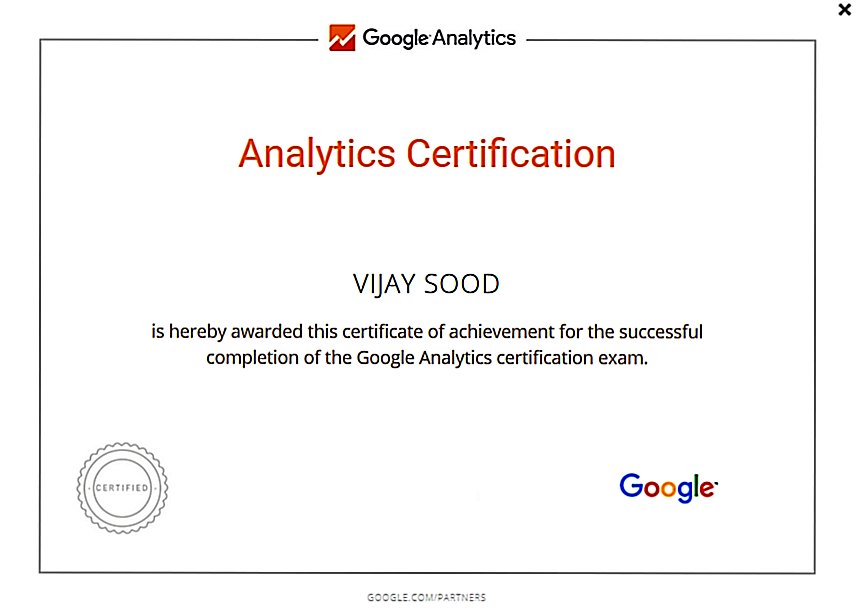 Google Analytics Vijay Sood SwiftPropel