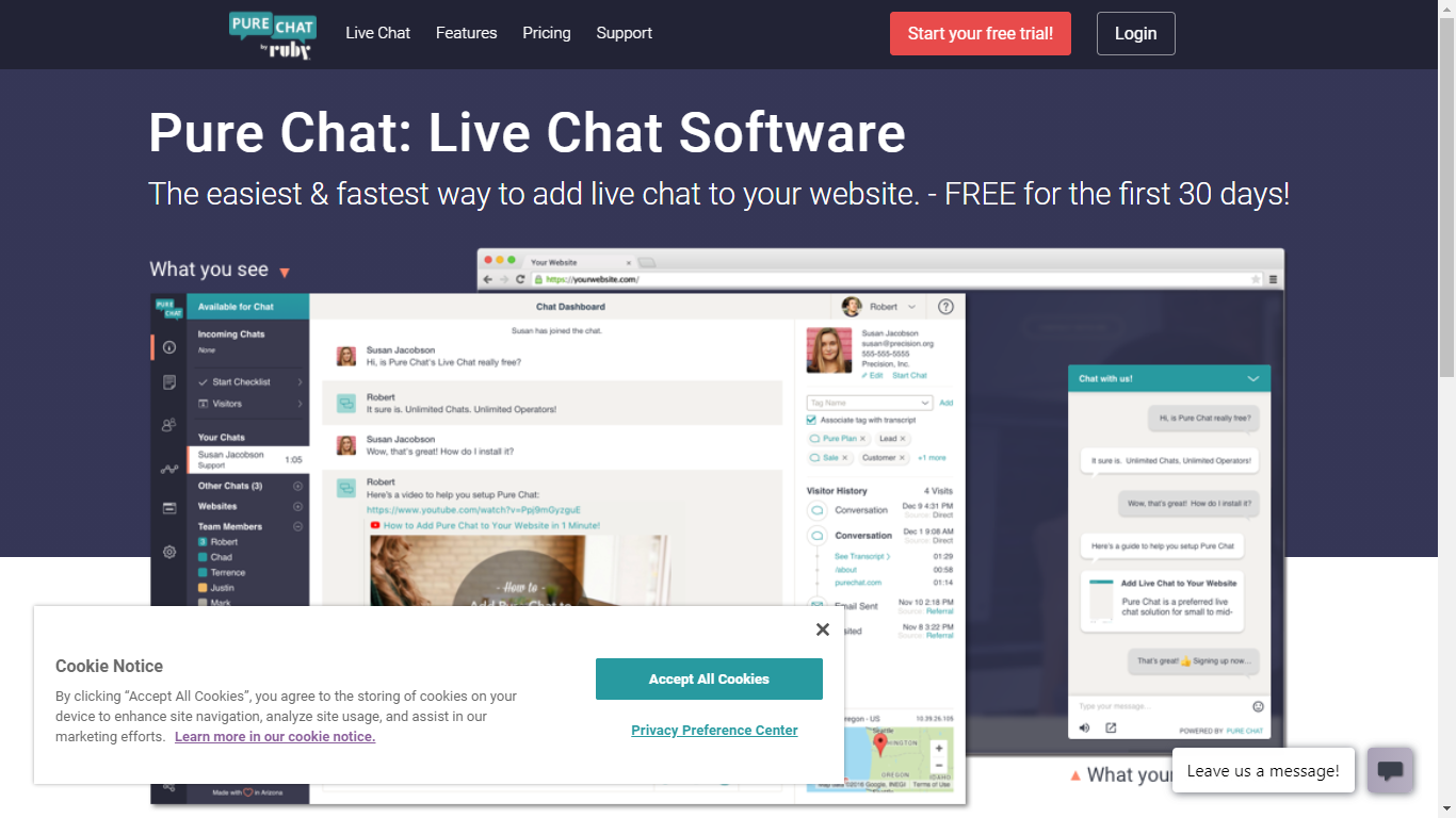 live chat softwares